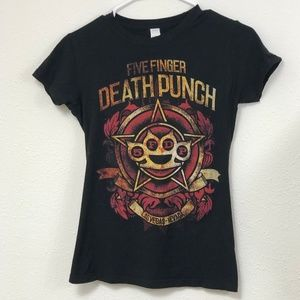 Five Finger Death Punch Rock Band Graphic Tee S